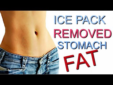 REMOVE Abdominal fat with ice packs!!!!!!!!