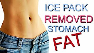 REMOVE Abdominal fat with ice packs! ONE WEEK!!!