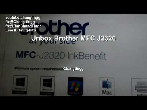 ๊Review  brother A3 inkjet printer mfc j2320 #changtingg