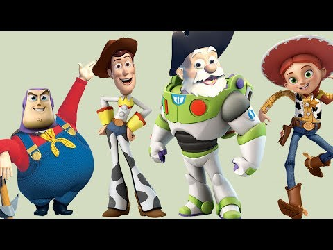 Toy Story Wrong Heads Woody, Jessie, Buzz Lightyear, Finger Family Song Nursery Rhymes