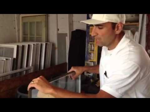 How to fix glass in a vinyl replacement window How to repair glass 860-986-7277 CT