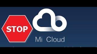 how to turn off Mi Cloud Backup