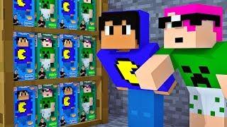 Minecraft: PEQUENOS NA LOJA DE BRINQUEDOS (Pac e Mike)