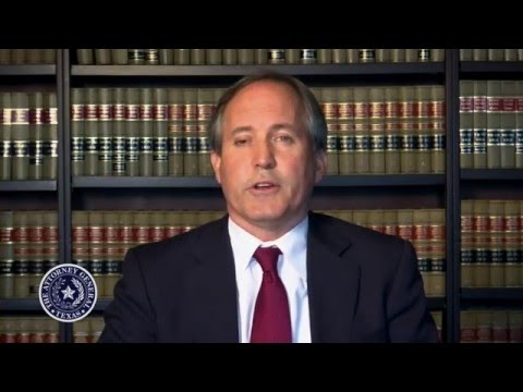 Texas Attorney General Ken Paxton statement on human trafficking
