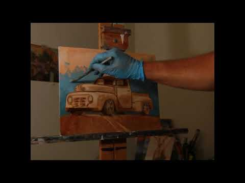 Oil Painting Time Lapse - 48' Ford F1