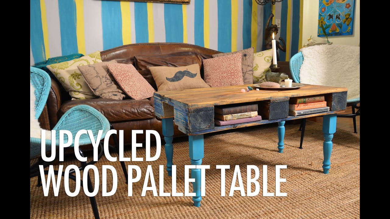DIY Wood Pallet Coffee Table with Mr Kate