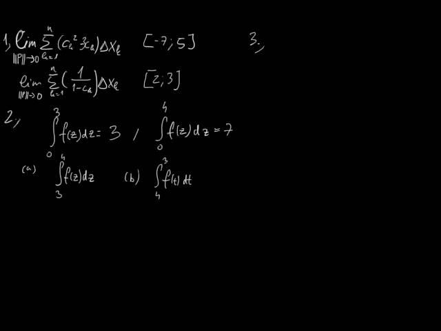 A határozott integrál - Feleadatok