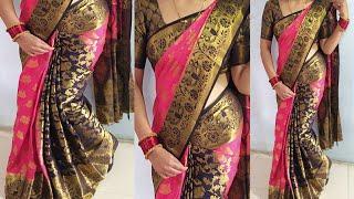 Paithani Silk Saree DrapeSilk Saree DrapingSaree Pleats Tricksilk Saree Wearing IdeaSaree Porar