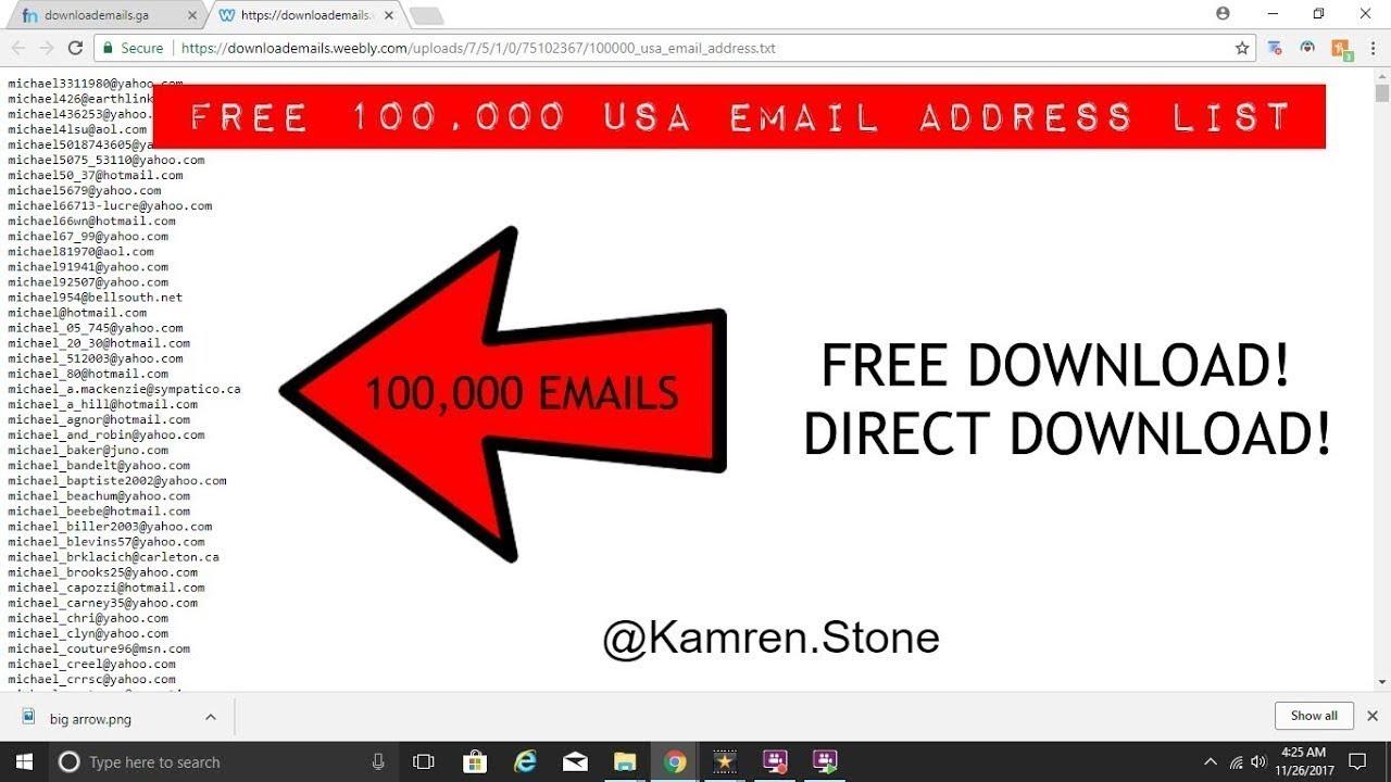 email list free download 600K email - قائمة البريد الالكترونية 600 000 بريد