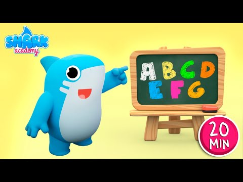 ABC SONG by Shark Academy + More Nursery Rhymes and Kids Songs