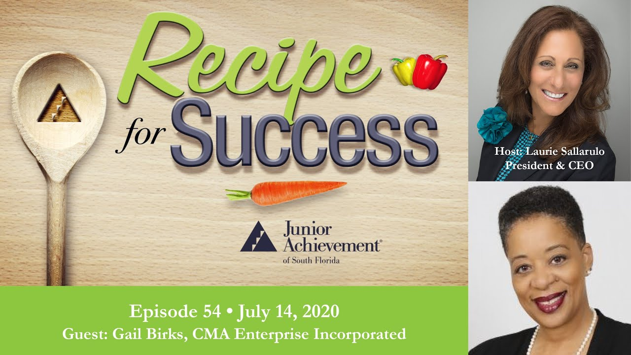 "CMA  Executive shares ""Recipes for Success"" Laurie Sallarulo, President/CEO of JA South Florida"