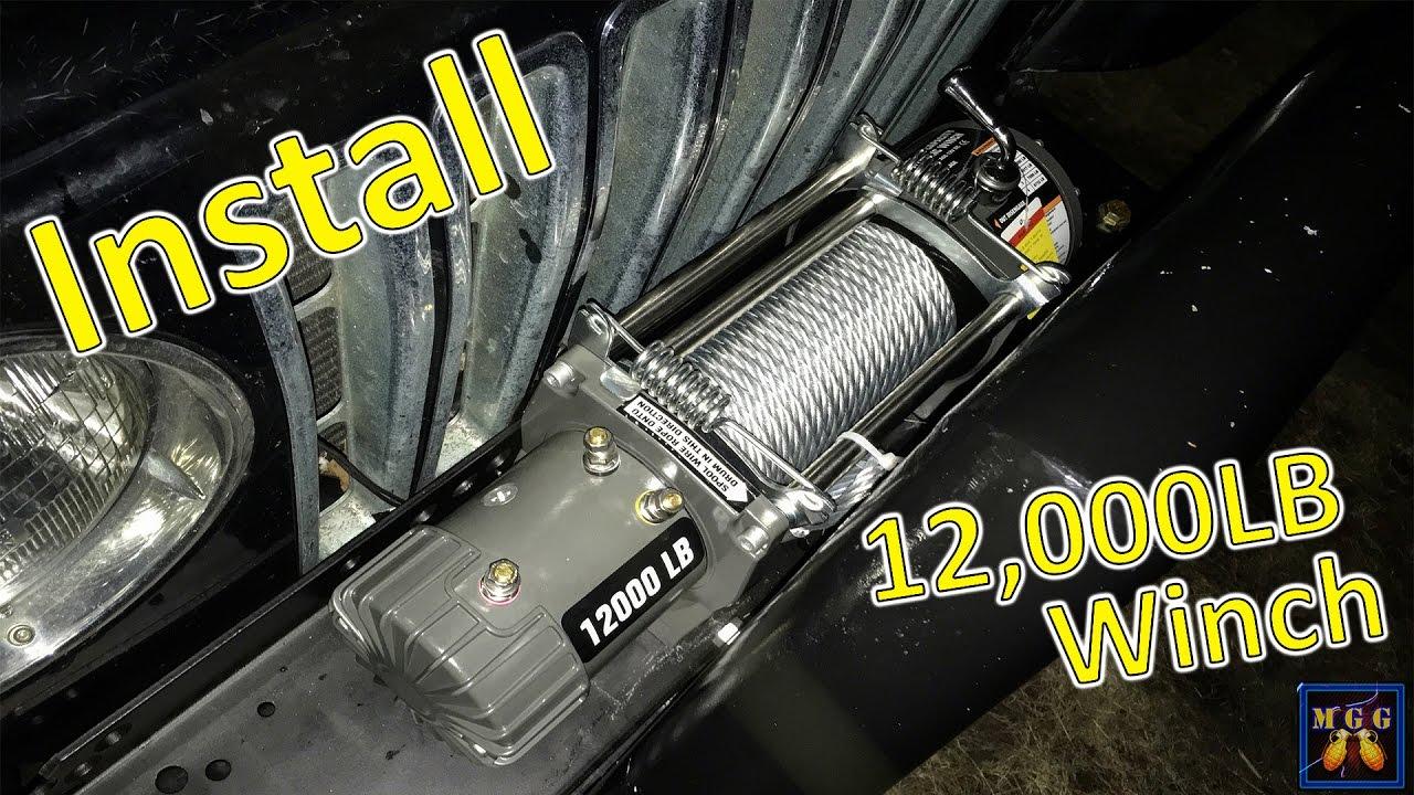 installing a 12 000lb winch on my jeep wrangler tj [ 1280 x 720 Pixel ]