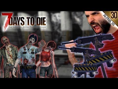 7 DAYS TO DIE A16 #30   TORRETAS + HORDA   Gameplay Español
