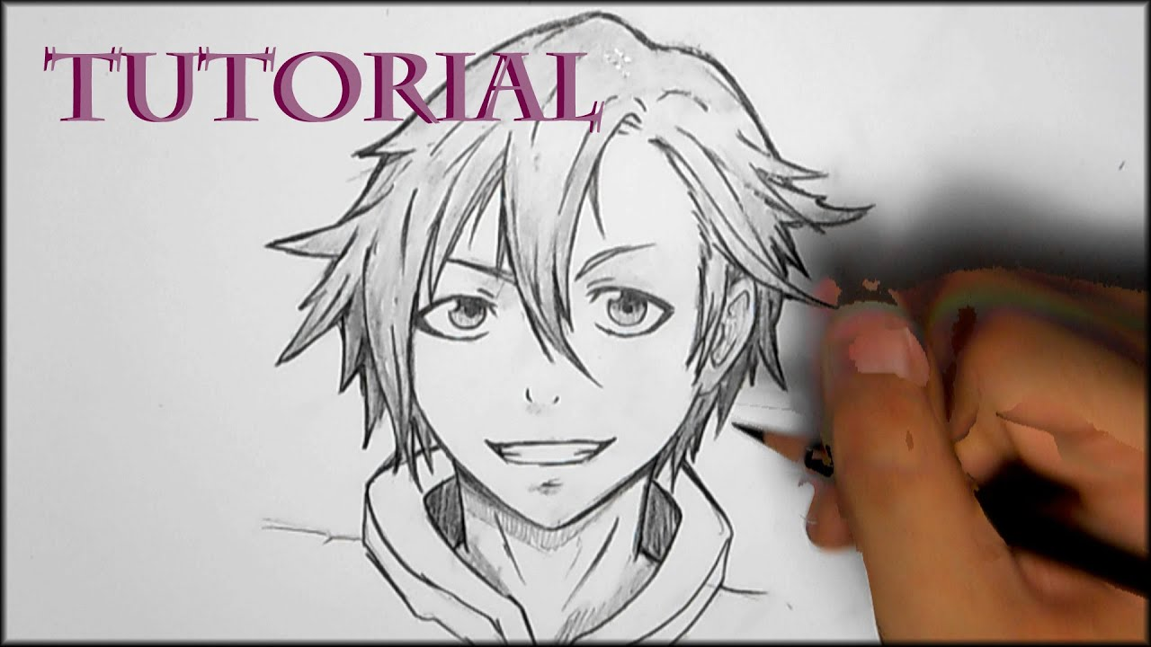 How To Draw Manga Male Hair Style Youtube