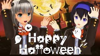【MMD】HappyHalloween【月奏雪】ハッピーハロウィン