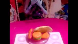 Моя самодельная еда для кукол монстер хай)