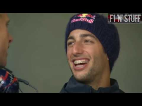 David Coulthard meets Daniel Ricciardo   F1 2017   Coulthard chats with Ricciardo