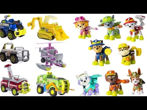 Thumbnail: Best Preschool Learning Colors Video - Paw Patrol Match Jungle Vehicles