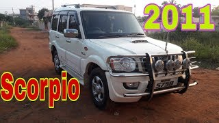 Scorpio white 2011 used car