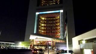 Dubai Jumeirah Emirates Tower at night (HD)