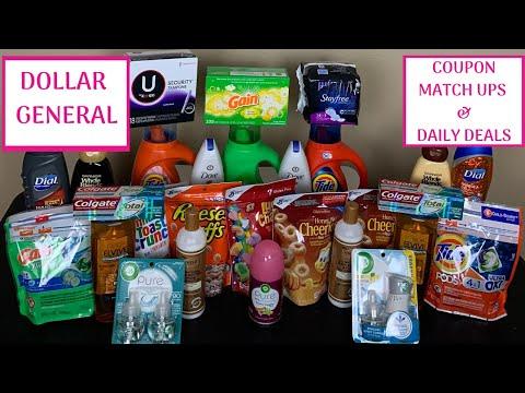 DOLLAR GENERAL COUPON MATCH UP & DAILY DEALS / BUDGET BOSS COUPONS