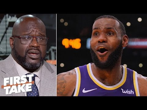 Shaq predicts LeBron will be on the Lakers Mt. Rushmore if he 3-peats with AD | First Take