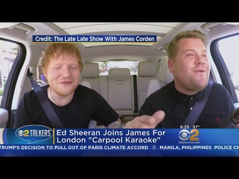 "Ed Sheeran Joins James Corden For London ""Carpool Karaoke"""