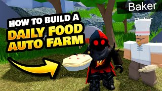How to Make aฑ Auto Daily Food Farm on Roblox Islands