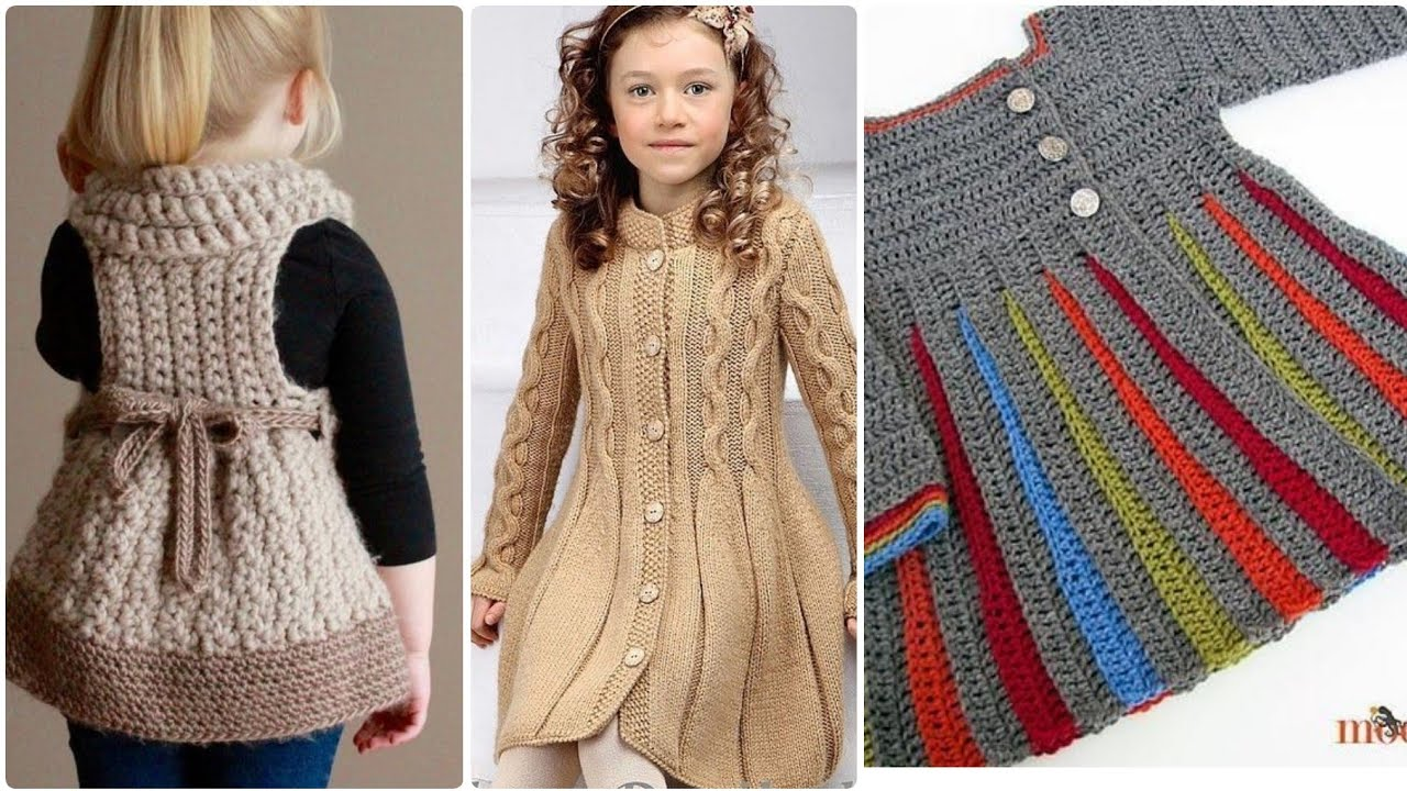 [VIDEO] - Latest winter crochet kids girls outfit collection 2
