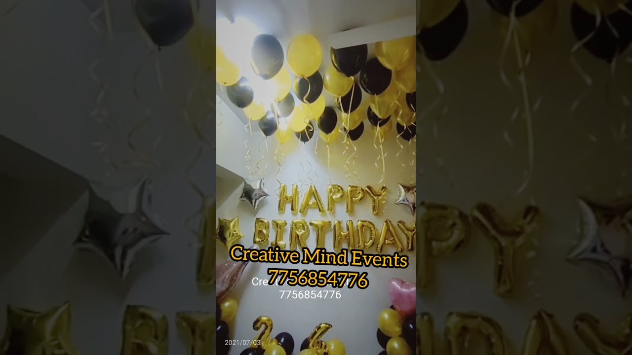 Download GOLD & BLACK BIRTHDAY THEME | Decorating in the budget! The most demanding combination #ytshorts