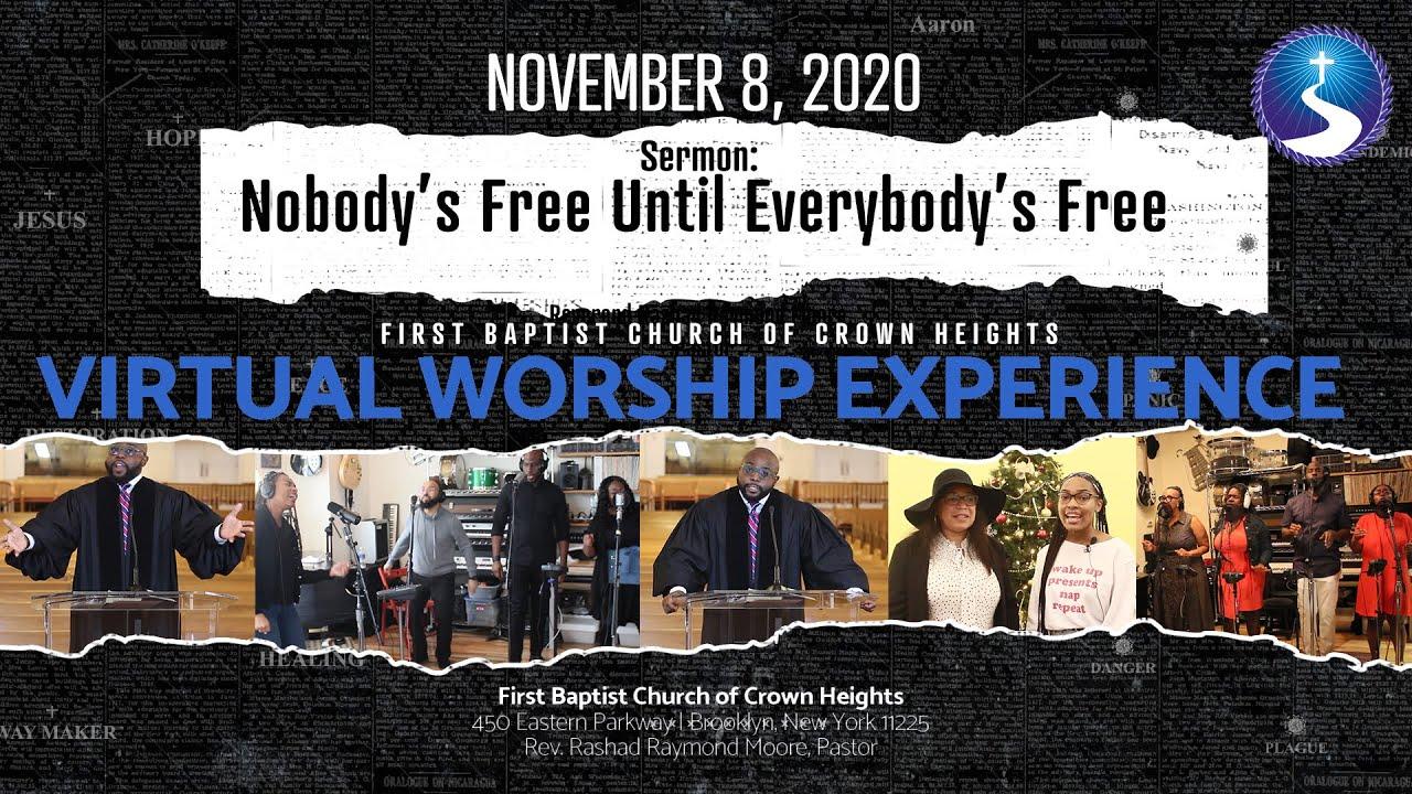 November 8, 2020: Virtual Worship Service