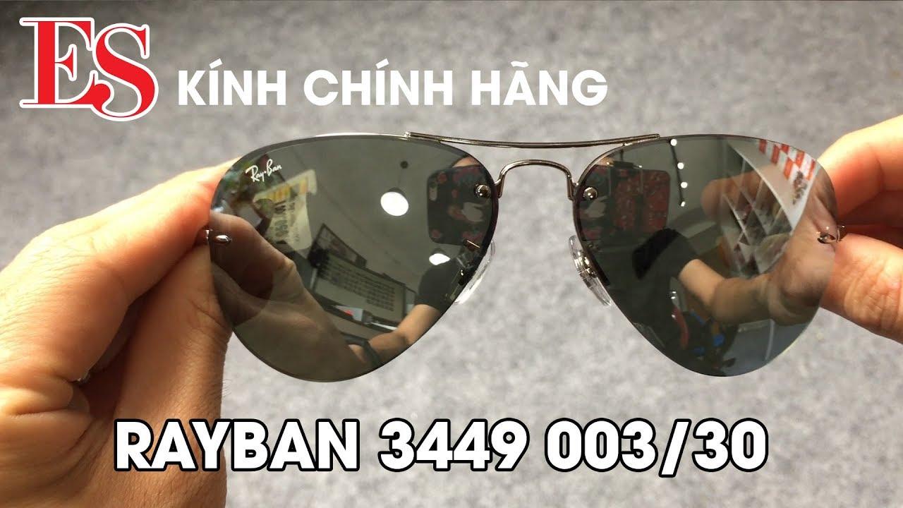 5bdfab9ed9 Kính Rayban chính hãng Hà Nội - RB 3449 003 30 - YouTube