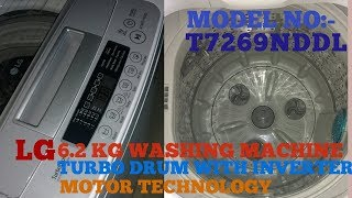 LG top loading fully automatic washing machine inverter Technology 6.2 kg LG T7269NDDL