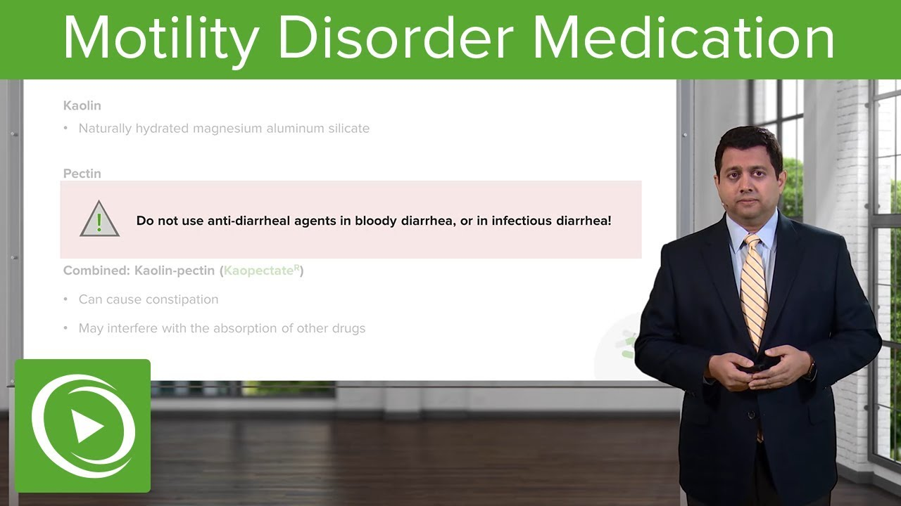 Motility Disorder Medication – Gastrointestinal Pharmacology | Lecturio