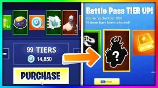 BUYING EVERY SEASON 5 BATTLE PASS TIER in Fortnite: Battle Royale (New Skins - Items Showcase)