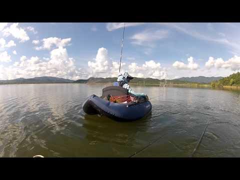 ลอยตกปลานิล & ตีเหยื่อปลอม Float Tube 2