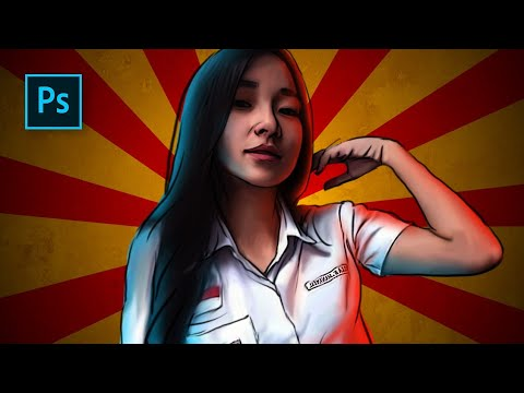 Cara Edit Foto Comic Book Effect (Poster Film Yowis Ben) - Photoshop Tutorial Indonesia