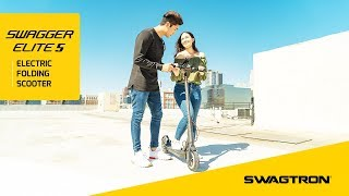 CRUSH THE PAVEMENT - Swagtron Swagger 5 Elite Folding Electric Scooter