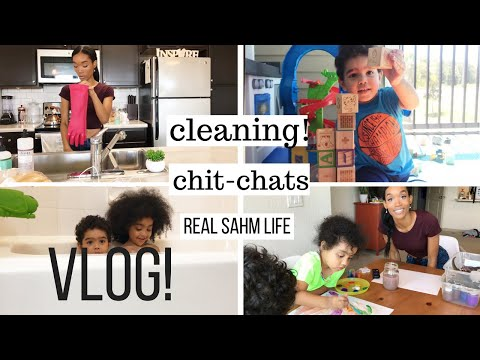 STAY AT HOME MOM VLOG // WEEKEND CLEANING ROUTINE // STAY AT HOME MOM ROUTINE WITH TODDLERS
