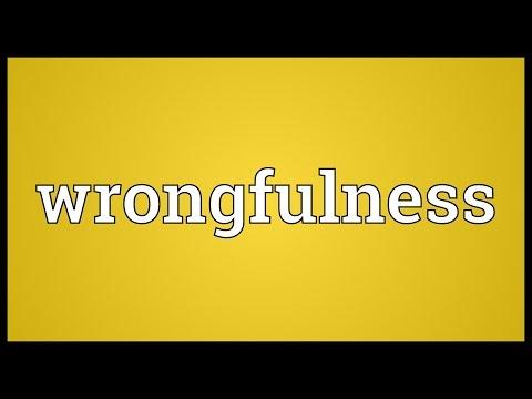 Header of wrongfulness