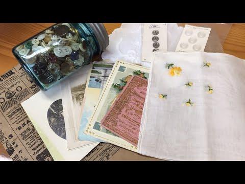 Antique Shop Haul / Junk journal supplies