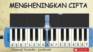 Gambar cover not pianika mengheningkan cipta - tutorial belajar pianika