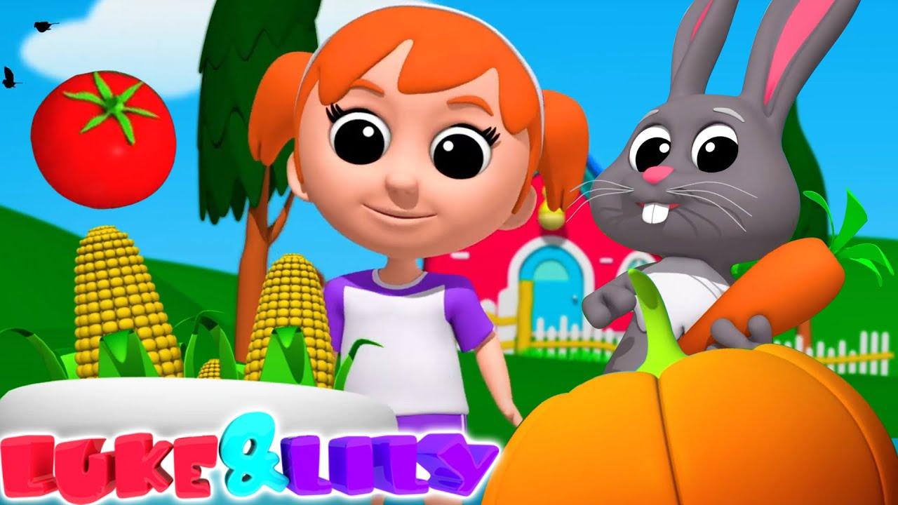 Vegetables Songs For Kids   Nursery Rhymes and Kids Songs   Learn Vegetables with Luke and Lily
