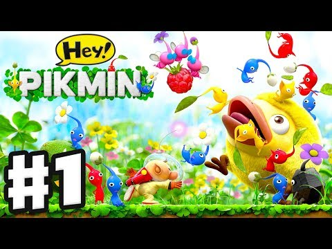 Hey! Pikmin - Gameplay Walkthrough Part 1 - Sector 1: Brilliant Gardens! All Treasures! Nintendo 3DS