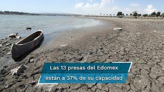 Los bajos niveles de agua en las presas y las pocas lluvias han provocado que 36 municipios mexiquenses se encuentren en condición de crisis severa y cuatro extrema: informe