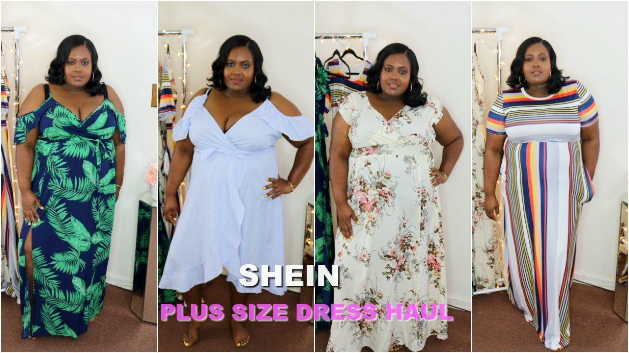 SHEIN PLUS SIZE SUMMER TRY ON DRESS HAUL| APPLE SHAPE FRIENDLY?