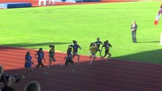 Olivia 100m City Finals  Victoria BC - James Bay Community School