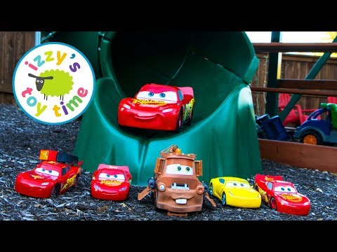 Thumbnail: Toy Cars Playground Pretend Play | Cars 3 McQueen Smart Steer! Kids Playing with Toys Collection