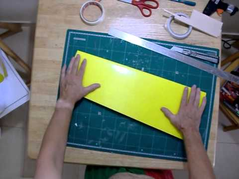 How to fold depron wings 2