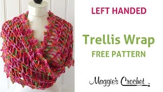 Trellis Wrap Free Crochet Pattern - Left Handed